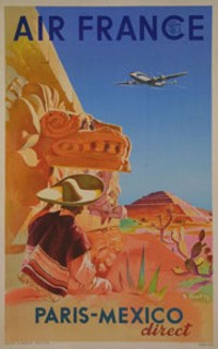 voyage,air france,affiches air france,cayenne,nouvelle